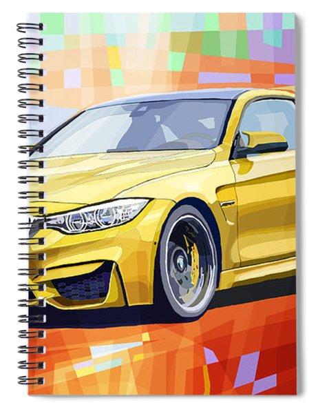 Bmw M4 Orange Spiral Notebook