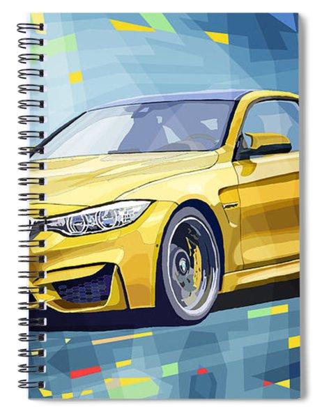 Bmw M4 Blue Spiral Notebook