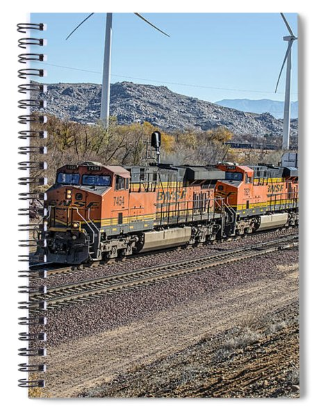 Spiral Notebook featuring the photograph Bnsf 7454 by Jim Thompson