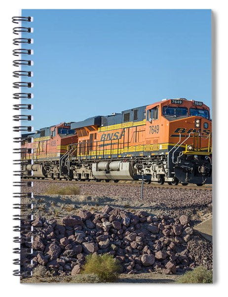 Spiral Notebook featuring the photograph Bnsf 7649 by Jim Thompson