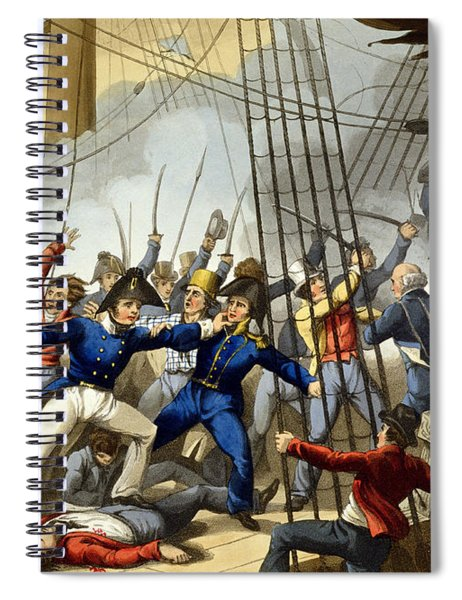 Boarding And Taking The American Ship Spiral Notebook