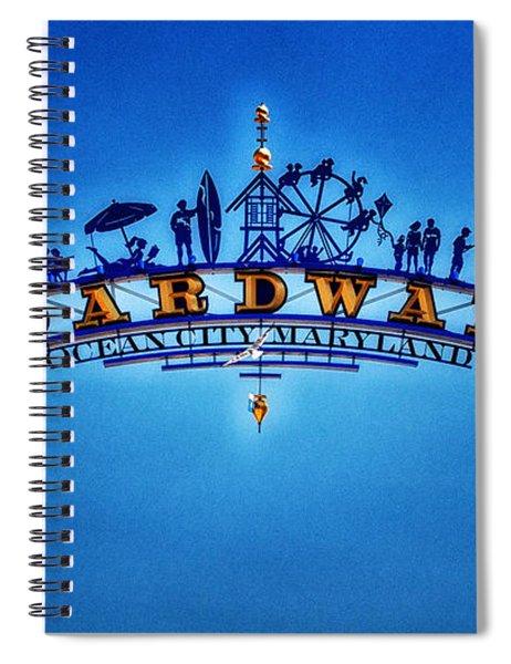Boardwalk Arch In Ocean City Spiral Notebook