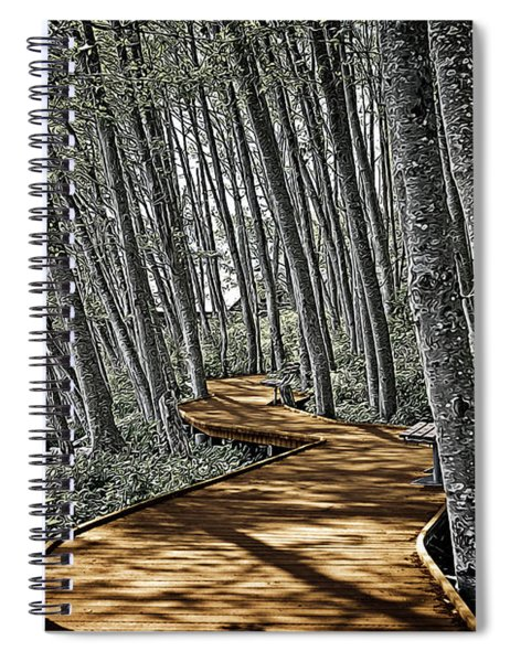 Boardwalk In The Woods Spiral Notebook
