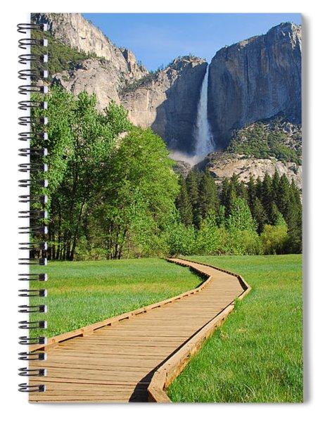 Boardwalk To Yosemite Falls  Spiral Notebook