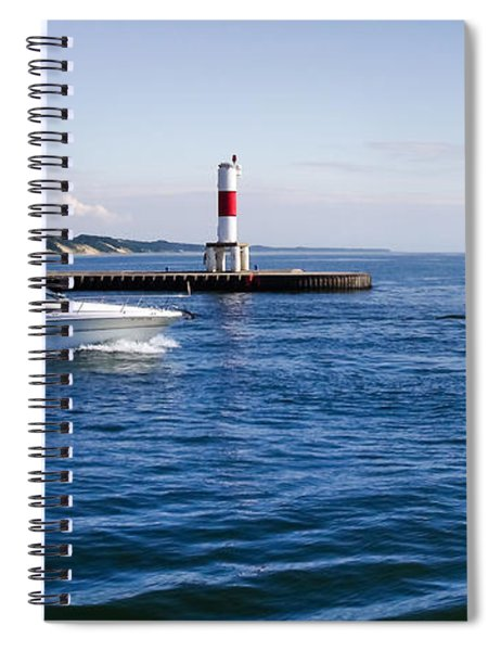 Boat At Holland Pier Spiral Notebook
