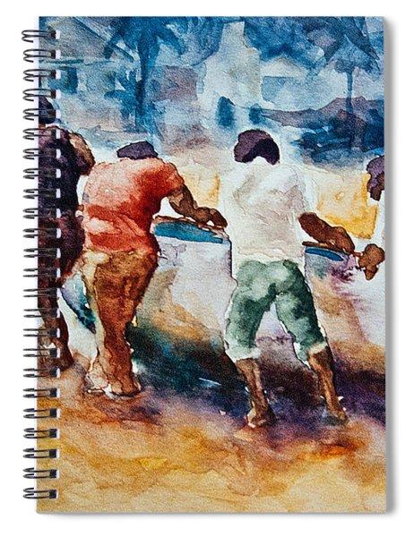 Men At Work Spiral Notebook