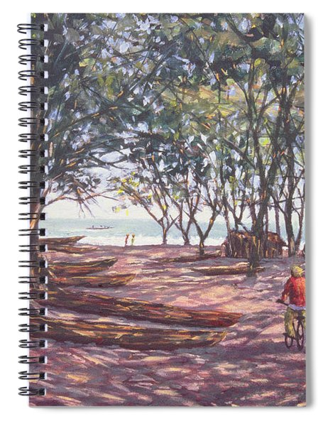 Boat Yard, Kafountine, 1998 Oil On Canvas Spiral Notebook