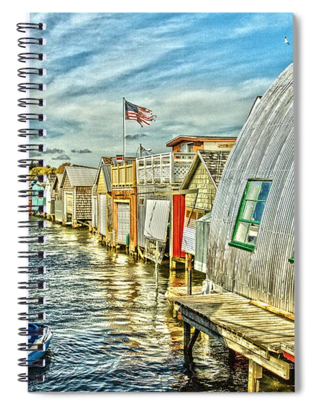 Boathouse Alley Spiral Notebook