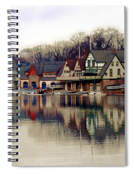 Boathouse Row Philadelphia Spiral Notebook