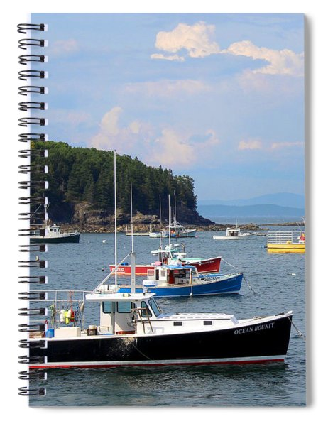 Boats In Bar Harbor Spiral Notebook