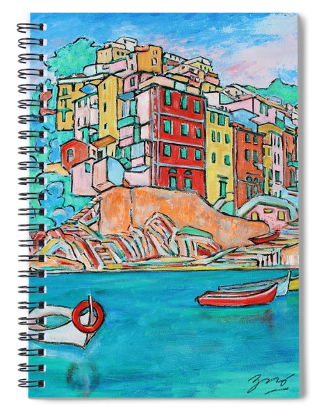 Boats In Front Of The Buildings X Spiral Notebook