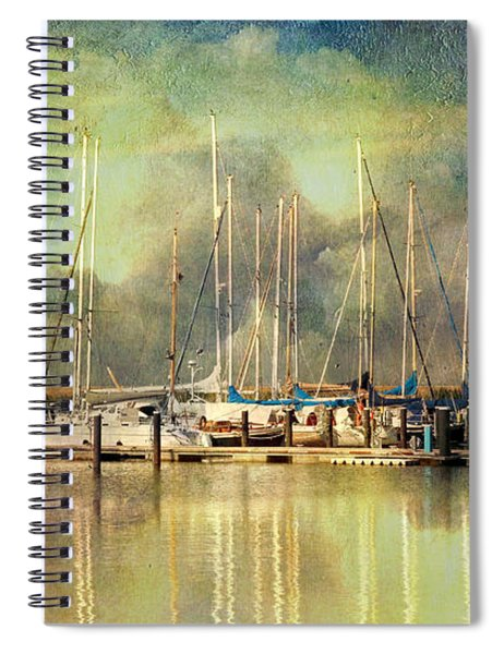 Boats In Harbour Spiral Notebook