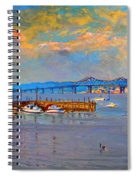 Boats In Piermont Harbor Ny Spiral Notebook