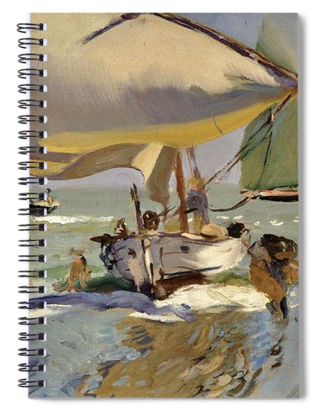 Boats On The Shore Spiral Notebook