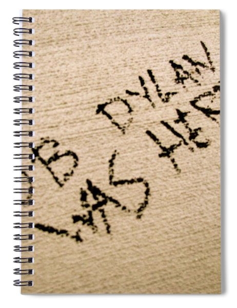 Bob Dylan Graffiti Spiral Notebook