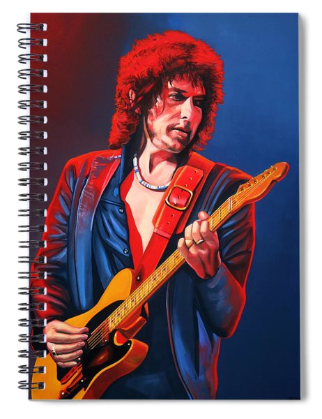 Bob Dylan Painting Spiral Notebook by Paul Meijering