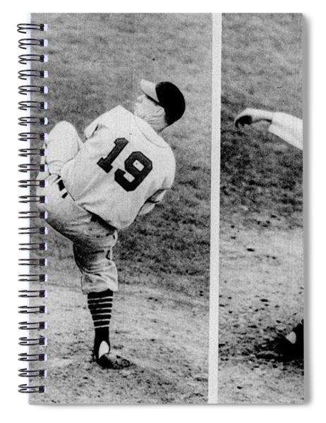 Bob Feller Pitching Spiral Notebook
