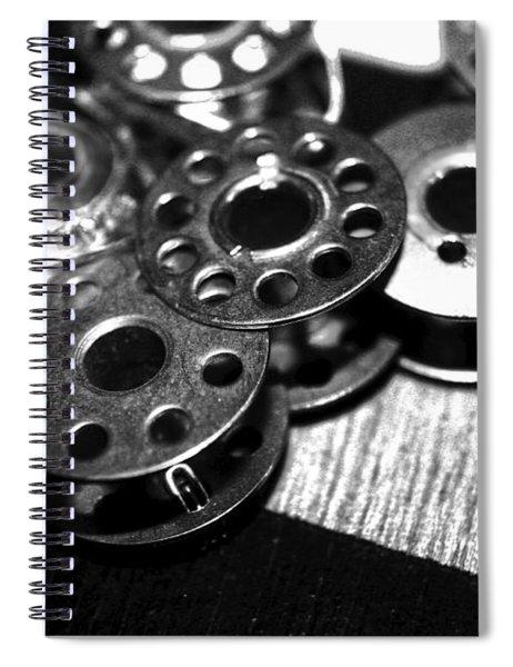 Bobbins 2 Bw Spiral Notebook