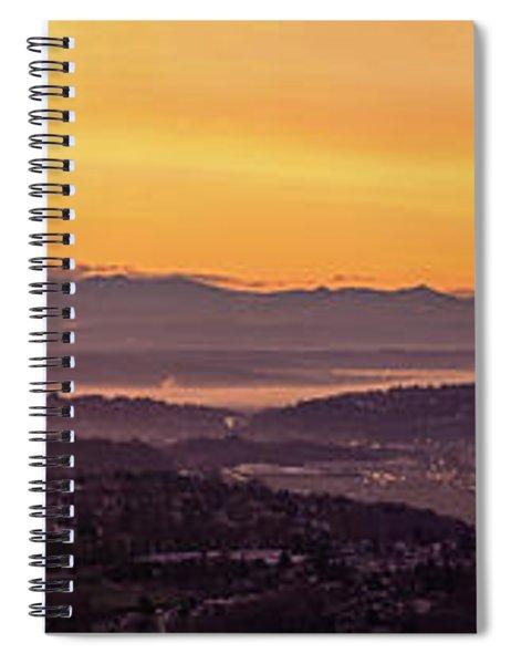 Boeing Seatac And Rainier Sunrise Spiral Notebook