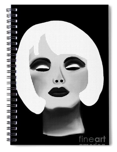 Bold Blonde Beauty Spiral Notebook