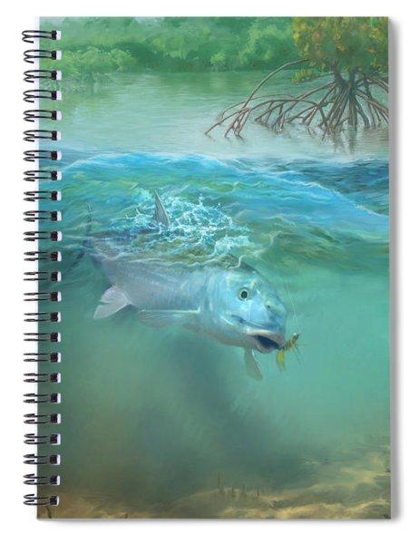 Bone Fish Spiral Notebook