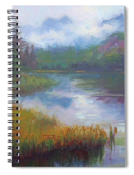 Bonnie Lake - Alaska Misty Landscape Spiral Notebook