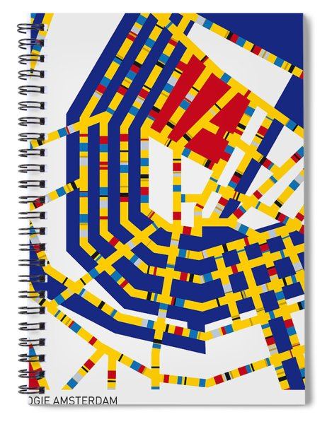 Boogie Woogie Amsterdam Spiral Notebook