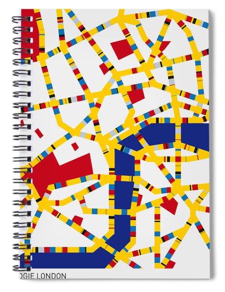 Boogie Woogie London Spiral Notebook