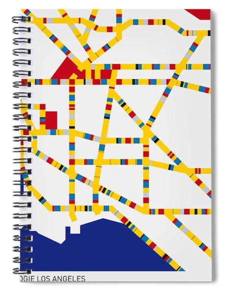 Boogie Woogie Los Angeles Spiral Notebook