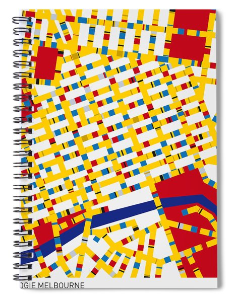 Boogie Woogie Melbourne Spiral Notebook