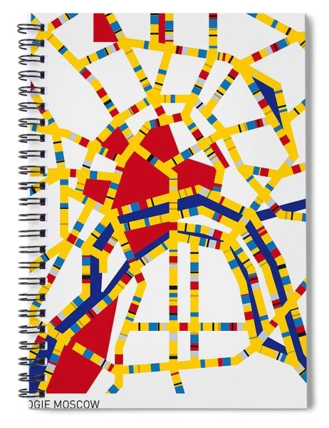 Boogie Woogie Moscow Spiral Notebook