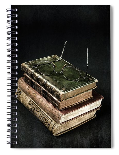 Books With Glasses Spiral Notebook