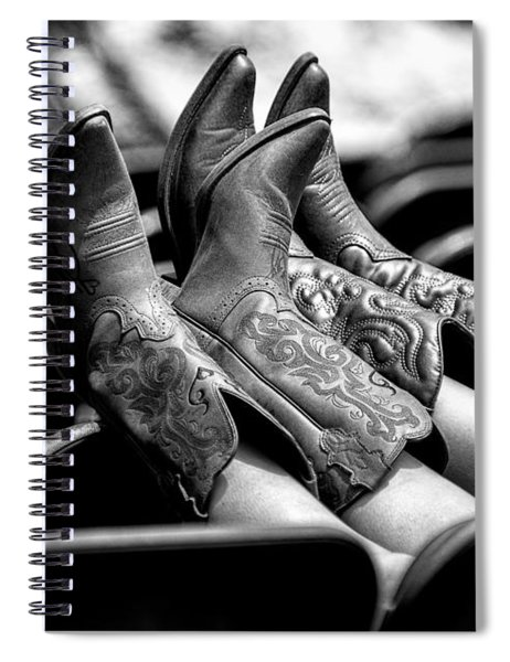 Boots Up - Bw Spiral Notebook