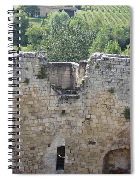 Bordeaux Castle Ruins With Vineyard Spiral Notebook