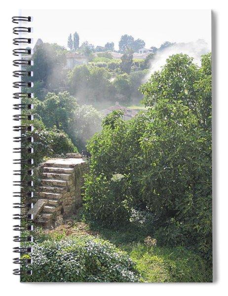 Bordeaux Village Cloud Of Smoke  Spiral Notebook