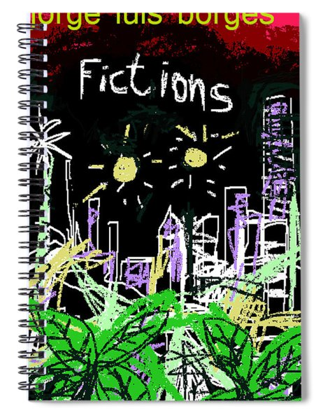 Borges Fictions Poster  Spiral Notebook