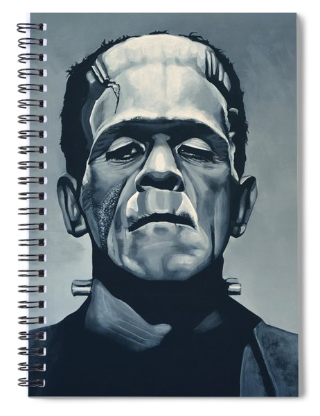 Boris Karloff As Frankenstein  Spiral Notebook
