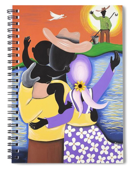 Born Of The Waters Spiral Notebook