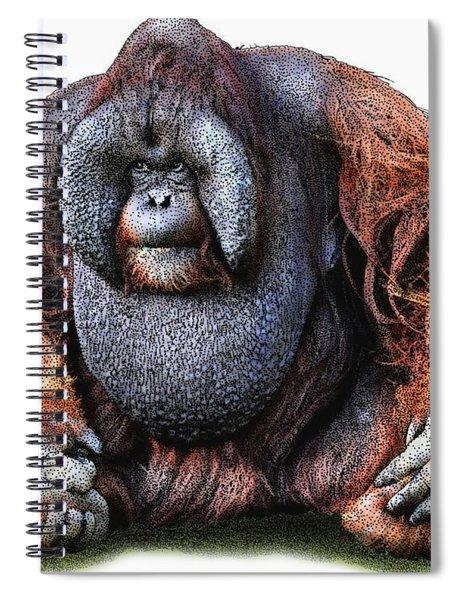 Bornean Orangutan Spiral Notebook