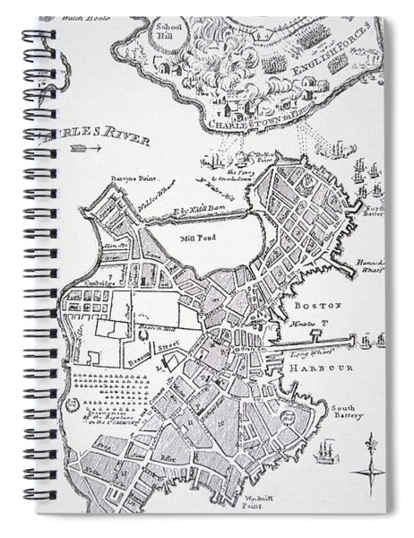 Boston And Bunker Hill 1781 Spiral Notebook