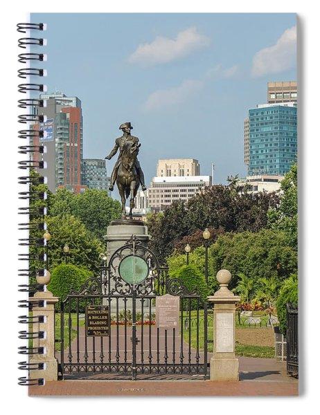 Boston Public Garden Spiral Notebook