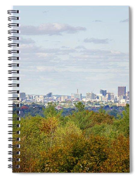Boston Skyline In Autumn Spiral Notebook