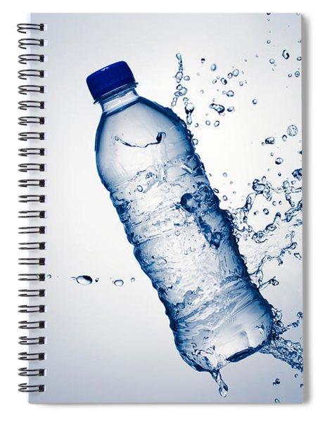 Bottle Water And Splash Spiral Notebook
