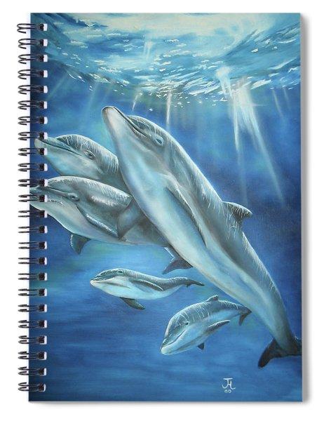 Bottlenose Dolphins Spiral Notebook