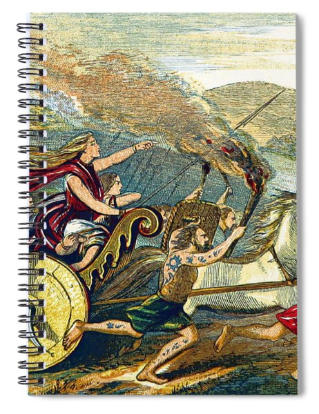Boudica Leading British Tribes, 60 Ad Spiral Notebook