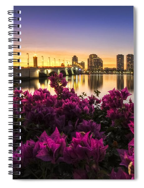 Bougainvillea On The West Palm Beach Waterway Spiral Notebook