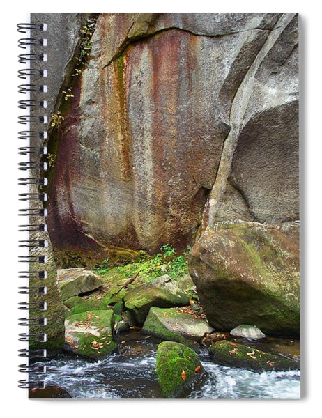 Boulders By The River Spiral Notebook