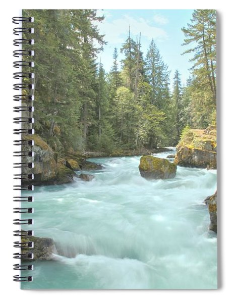 Boulders In The Cheakamus River Spiral Notebook