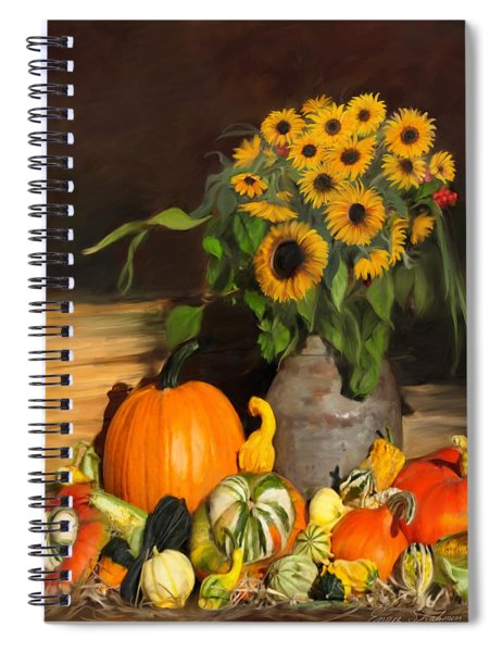 Bountiful Harvest - Floral Painting Spiral Notebook