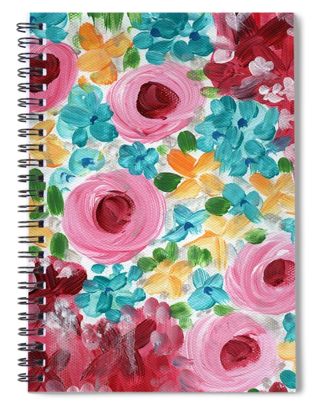 Bouquet- Expressionist Floral Painting Spiral Notebook